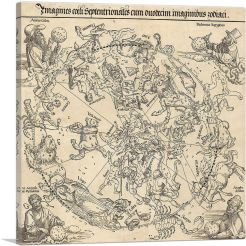 Celestial Map of The Northern Hemisphere - Northern Sky