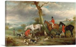 Thomas Wilkinson With the Hurworth Foxhounds 1846