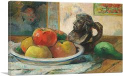 Still Life with Apples, a Pear, and a Ceramic Portrait Jug 1889