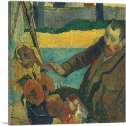 Vincent van Gogh Painting Sunflowers 1888