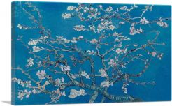 Branches with Almond Blossom - Blue Rectangle 1890