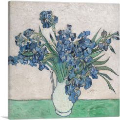 Irises in White Pitcher 1890