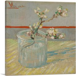 Sprig of Flowering Almond in a Glass 1888