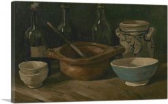 Still Life with Earthenware and Bottles 1885