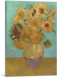 Sunflowers - Blue Background 1889