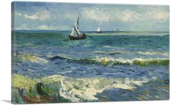 The Sea at Les Saintes-Maries 1888