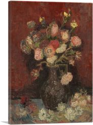 Vase with Chinese Asters and Gladioli 1886