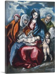 Holy Family with St. Anne and the young John the Baptist 1595