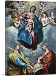 Madonna and Child with Saint Martina and Saint Agnes 1599