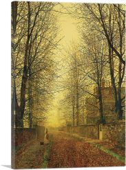 In Autumn's Golden Glow-1-Panel-12x8x.75 Thick