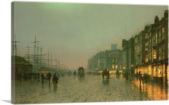 Liverpool from Wapping 1885-1-Panel-12x8x.75 Thick