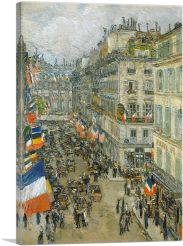 July Fourteenth - Rue Daunou 1910-1-Panel-60x40x1.5 Thick