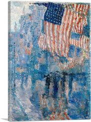 Street in the Rain 1917-1-Panel-26x18x1.5 Thick