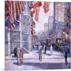 Early Morning on the Avenue in May 1917-1-Panel-26x26x.75 Thick