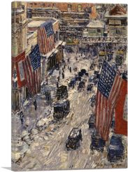 Flags on 57th Street 1918-1-Panel-40x26x1.5 Thick