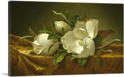 Magnolias on Gold Velvet Cloth 1890