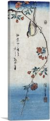 Small bird on a branch of Kaidozakura 1844