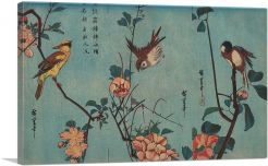 Sparrow and Wild Roses and Cherry Blossoms 1833