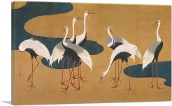 Cranes by Follower of Sakai Hoitsu