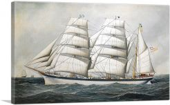 The British Barque Dunearn at Sea Under Full Sail 1897