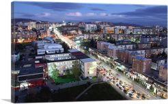 Pristina Kosovo Nighttime