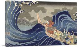 On the Waves at Kakuda on the Way to Sado 1837