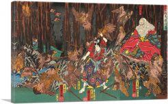 Prince Yoshitsune Learning the Wrt of Swordsmanship