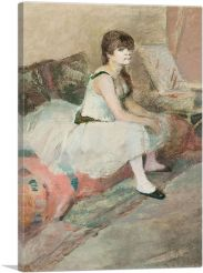 Dancer Seated on a Pink Couch 1884