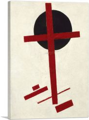 Mystic-Suprematism - Red Cross on a Black Circle 1922