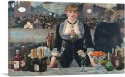 A Bar at the Folies Bergere 1882-1-Panel-40x26x1.5 Thick