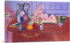 Pink Statuette and Jug on a Red Chest of Drawers 1910