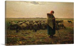 Shepherdess with Her Flock 1864