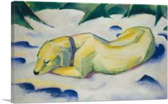 Dog Lying In The Snow 1910