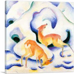 Deer In The Snow 1911