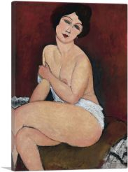 Nude Seating on a Sofa 1917