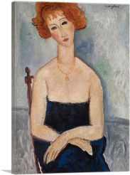 Red-Headed Woman Wearing a Pendant 1918