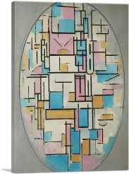 Composition in Oval with Color Planes 1914