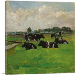 Landscape with Group of Five Cows 1901