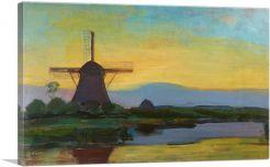 Oostzijde Windmill at Night 1908