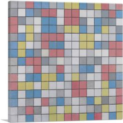 Checkerboard Composition with Light Colors 1919