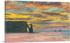 Etretat Aiguille and Porte Daval Sunset 1883