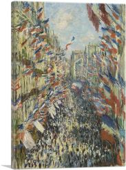 The Rue Montorgueil in Paris-1-Panel-60x40x1.5 Thick