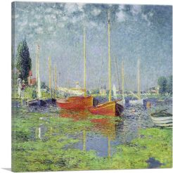 Yachts - Red Boats at Argenteuil 1875