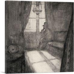 Moonlight - Night in Saint Cloud 1895-1-Panel-26x26x.75 Thick