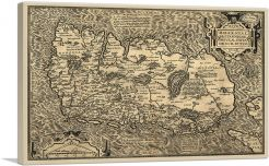 Map of Ireland  1572