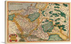 Map of Poland 1592