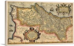 Map of Portugal 1561