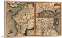 Map of the Americas 1584