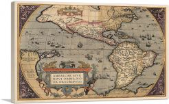 Map of the Americas 1587