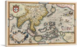 Indiae Orientalis - Theatrum Orbis Terrarum 1585